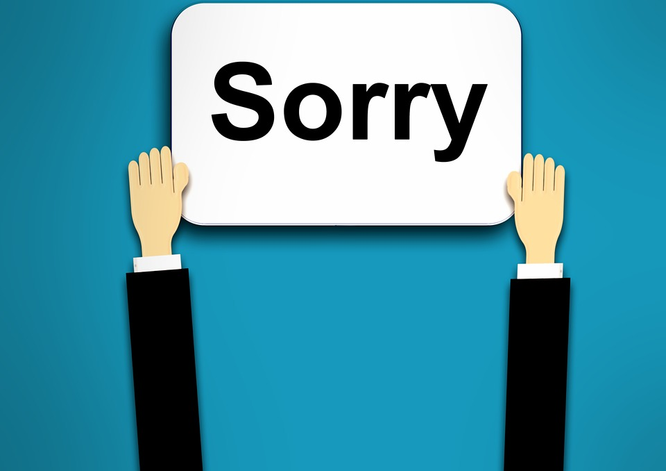 Should you say sorry when you are not wrong